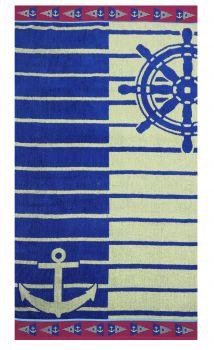 Betz Toalla de Playa de Terciopelo Toalla de ba/ño XXL 100/% algod/ón tama/ño 75x150 cm dise/ño Surf de Color Azul-Rosa