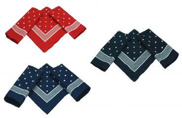 BETZ 3er Pack nickituch Bandana foulard foulard classique Points Motif