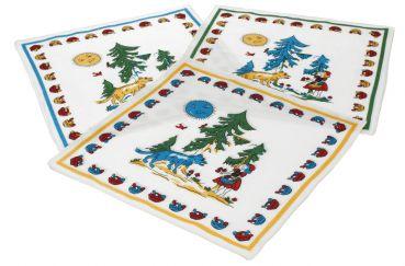12 Stück Kindertaschentücher Stofftaschentücher Kinder Tiermotiv