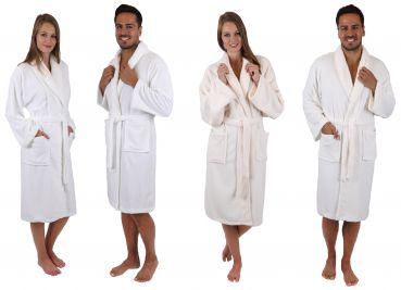 Betz bath robe IBIZA dressing gown for Ladies and Men with shawl collar 191c13de8