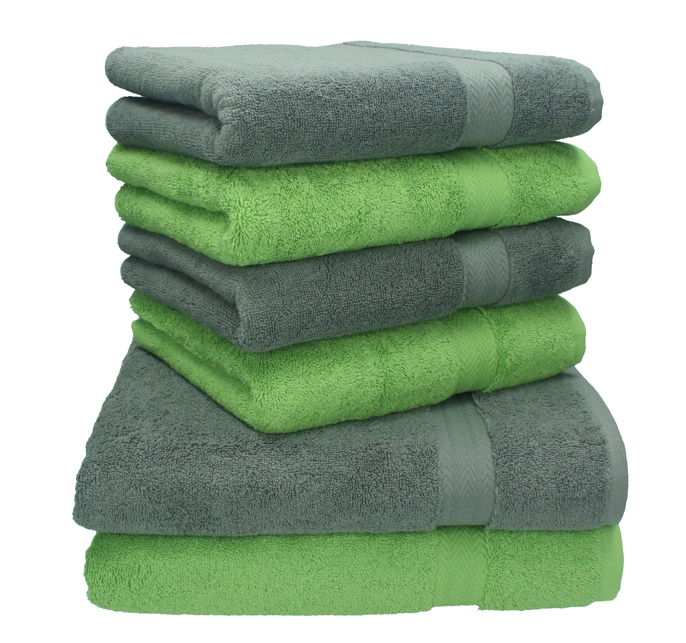 betz 6 tlg handtuch set premium 100 umwolle 2 duscht cher 4 handt cher farbe anthrazit und. Black Bedroom Furniture Sets. Home Design Ideas