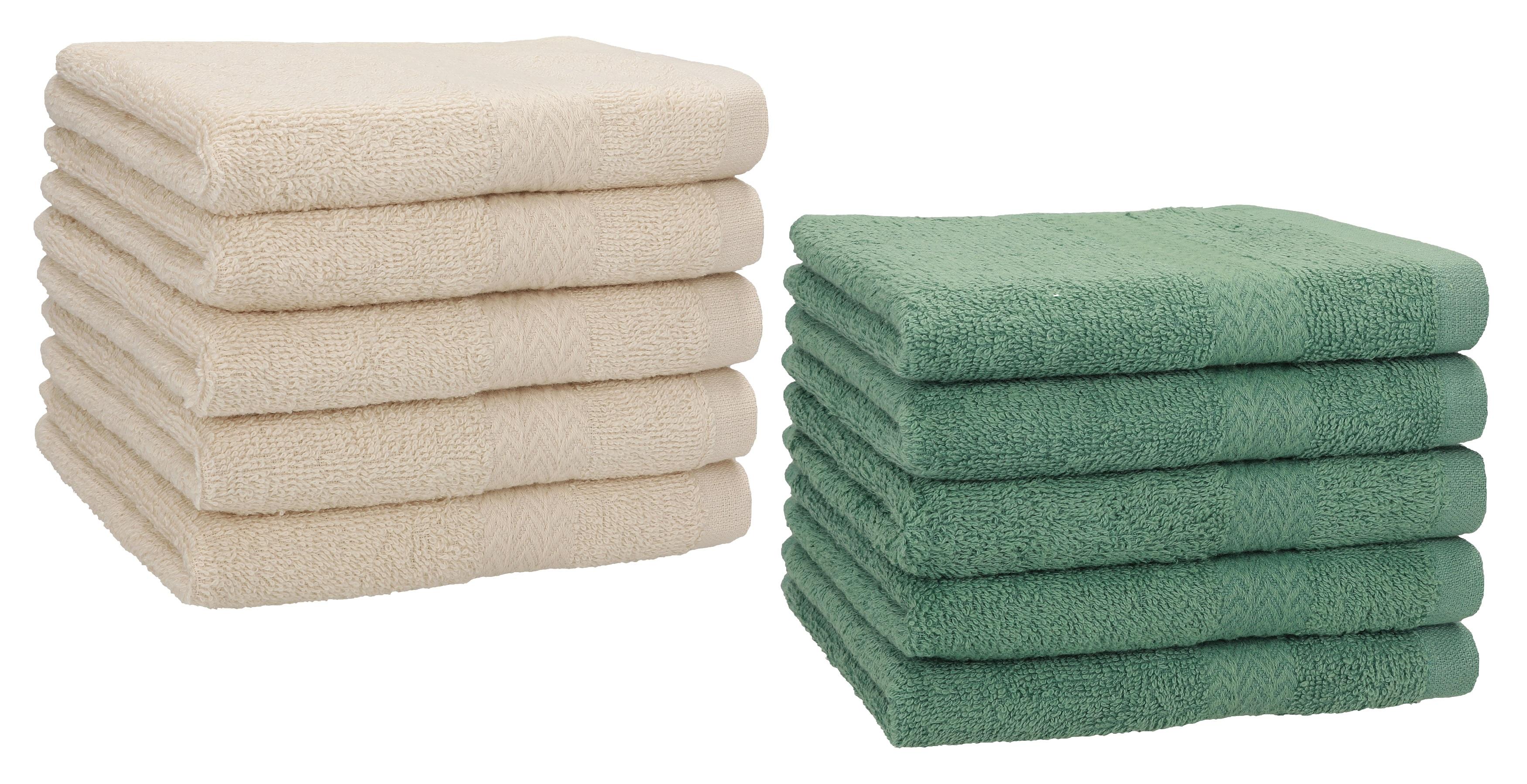 Betz Lot de 10 serviettes d/'invités serviette invité taille 30x50 cm coton