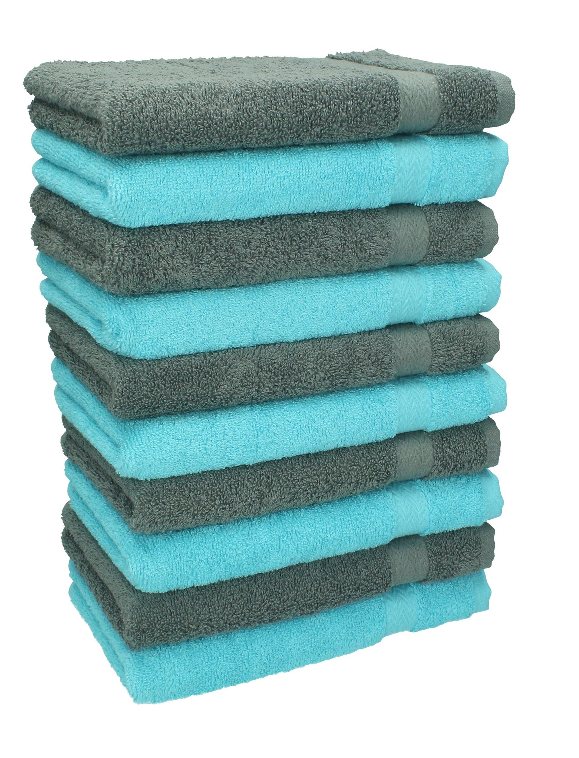 betz 10 st ck g stehandt cher premium 100 umwolle g stetuch set 30x50 cm farbe t rkis und. Black Bedroom Furniture Sets. Home Design Ideas