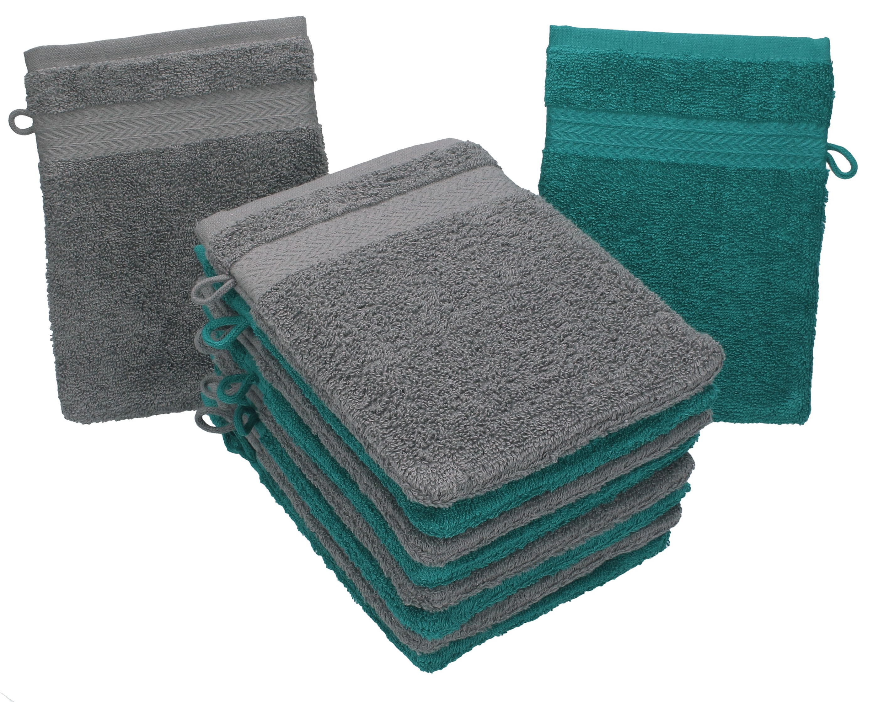 Betz set di guanti da bagno premium misure cm cotone