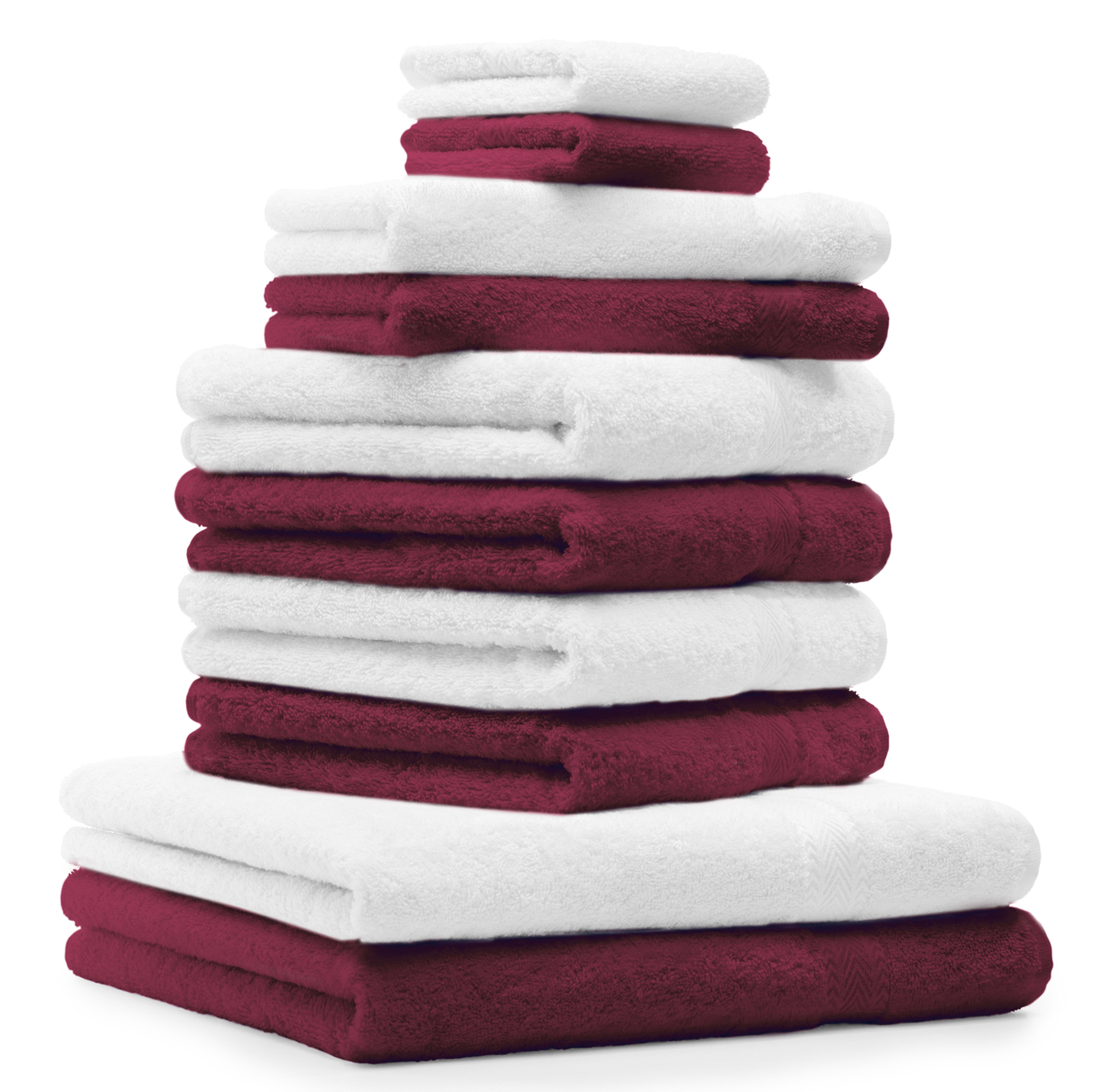 Betz 10 Piece Towel Set CLASSIC 100% Cotton 2 Bath Towels 4 Hand ...