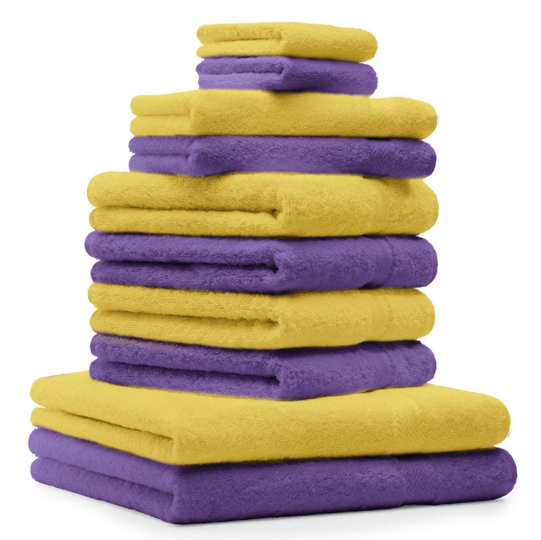 Betz 10 Piece Towel Set CLASSIC Cotton 2 Bath Towels 4 Hand