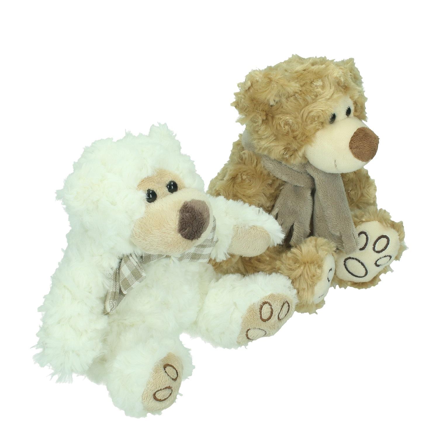 2 Stofftiere Bären weiss Stofftiere