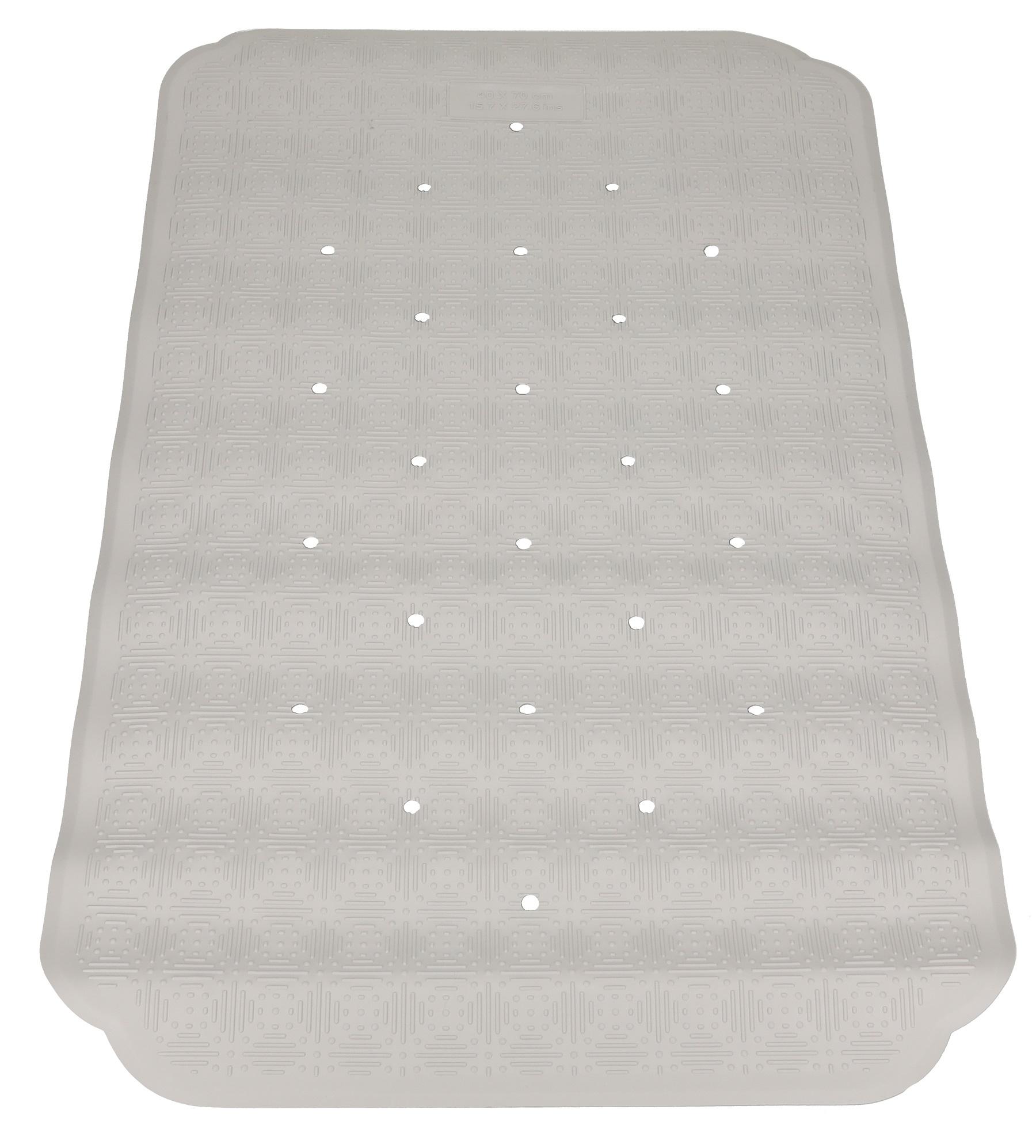 Betz non-slip natural rubber bath mat shower mat CAIRO Colour: grey ...