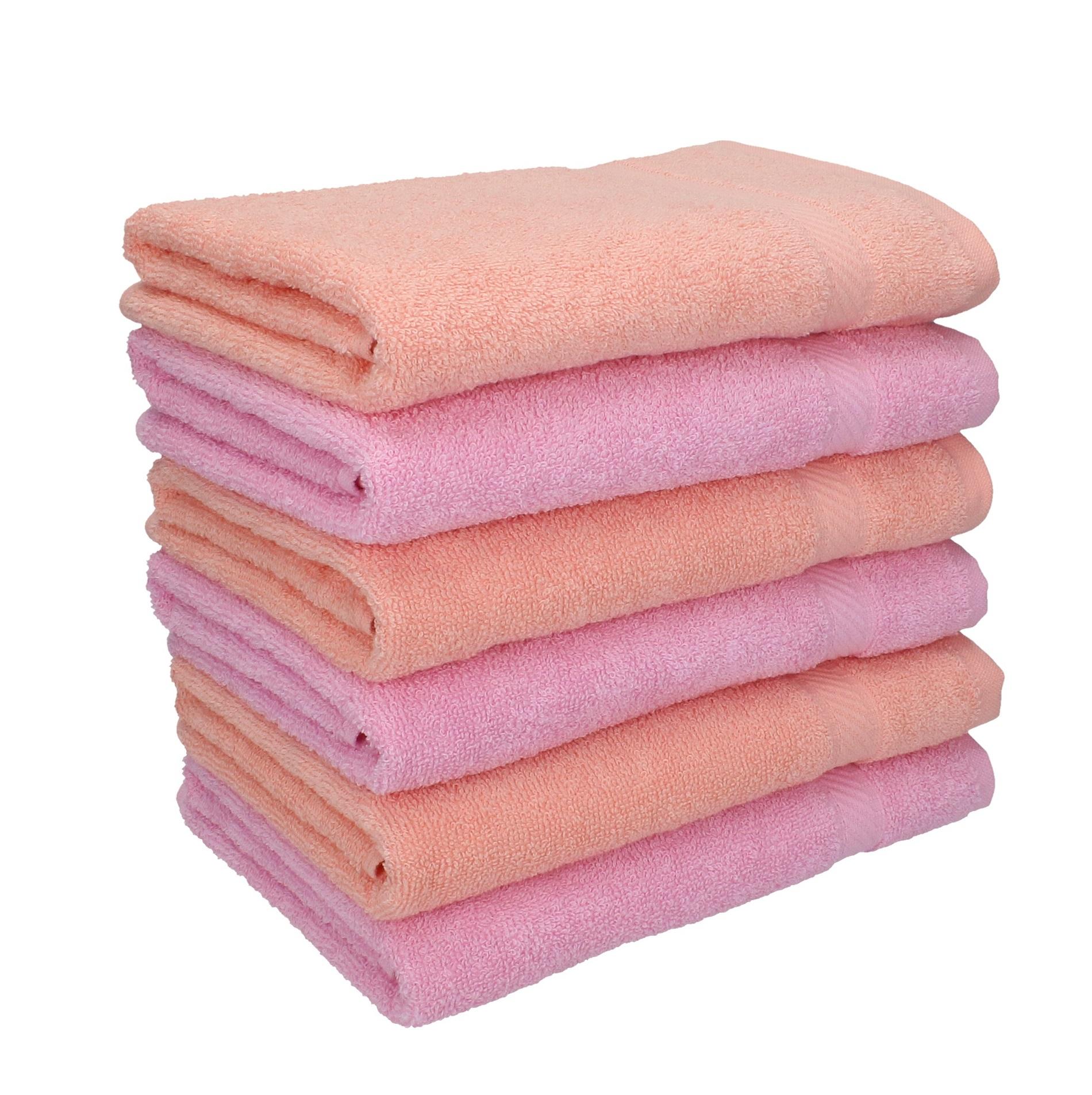 betz 6 st ck handt cher palermo 100 baumwolle handtuch set farbe apricot und ros. Black Bedroom Furniture Sets. Home Design Ideas