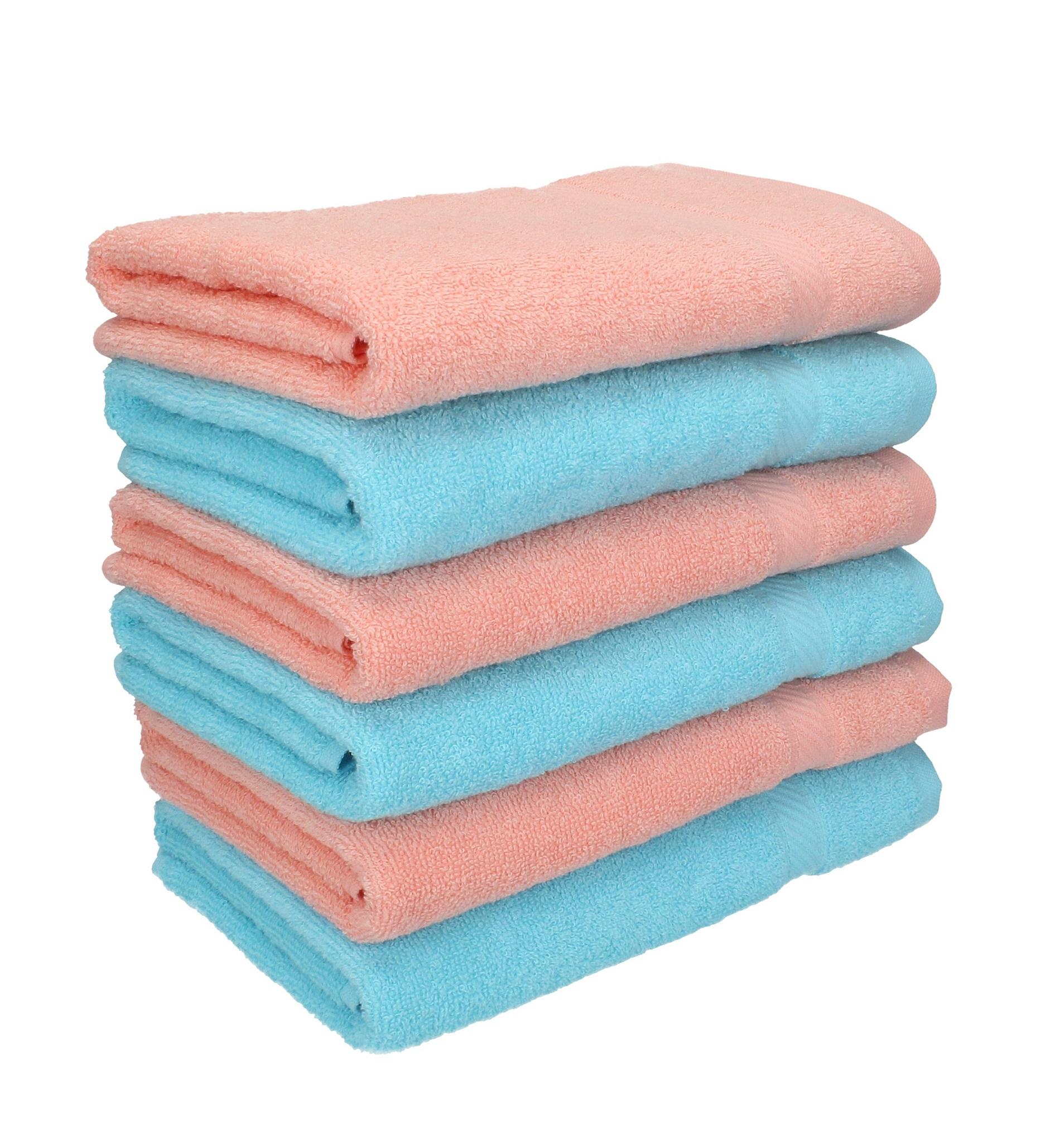 betz 6 st ck handt cher palermo 100 baumwolle handtuch set farbe apricot und t rkis. Black Bedroom Furniture Sets. Home Design Ideas