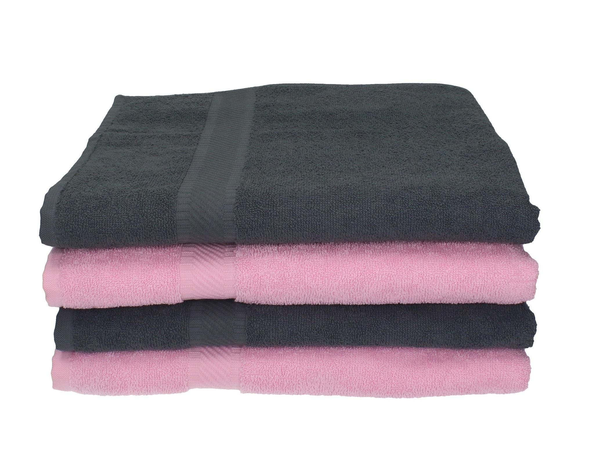 Set di 4 asciugamani da bagno 70 x 140 cm palermo 100 % cotone