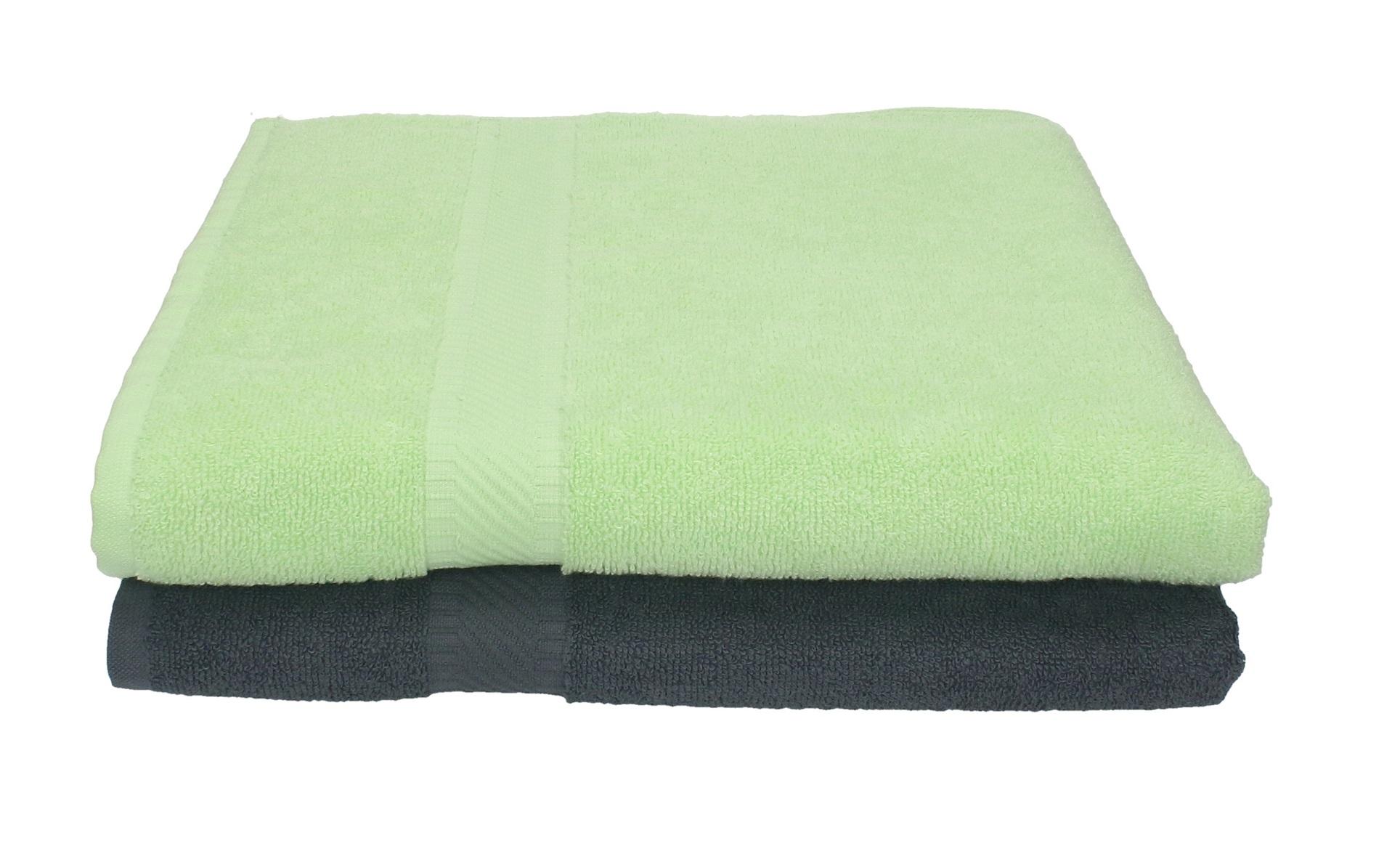Set di 2 asciugamani da bagno 70 x 140 cm palermo 100 % cotone