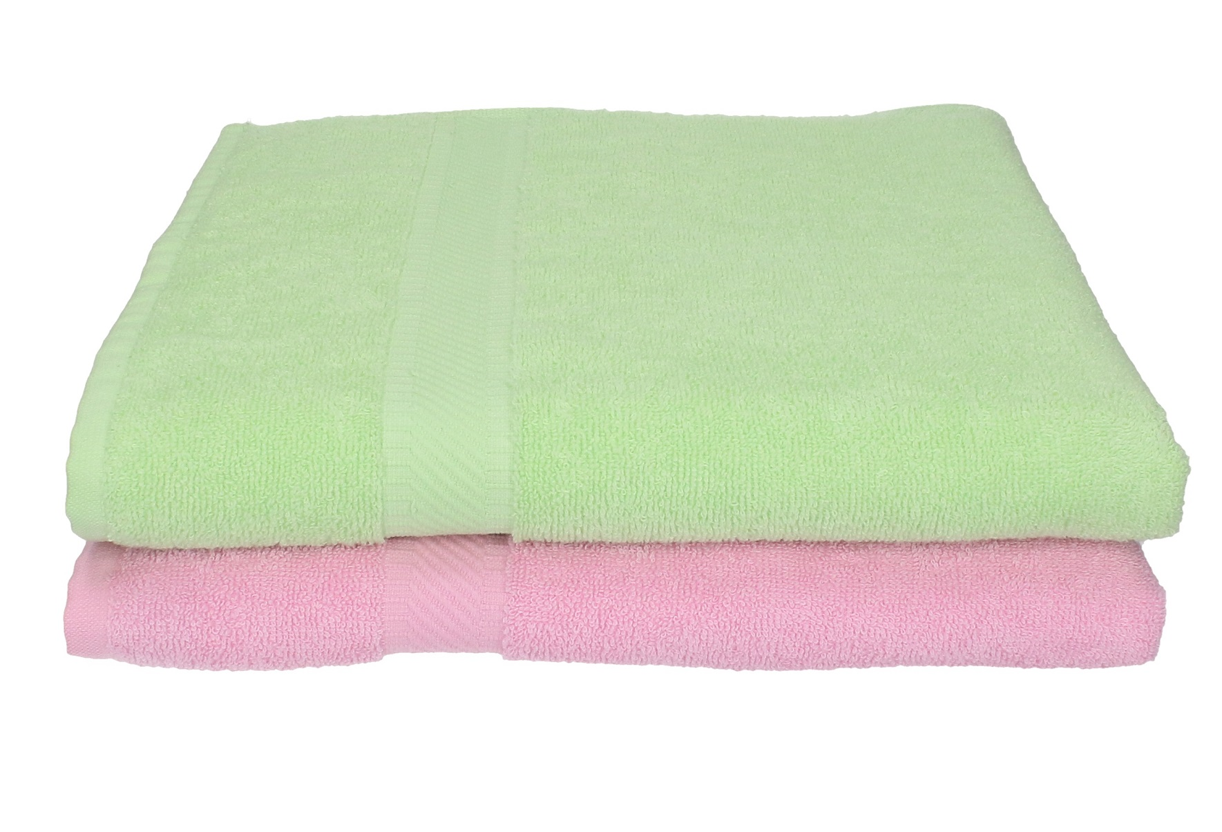 BETZ Lot de 2 Serviettes de Bain Taille 70 x 140 cm 100/% Coton Palermo Couleur Vert et ros/é