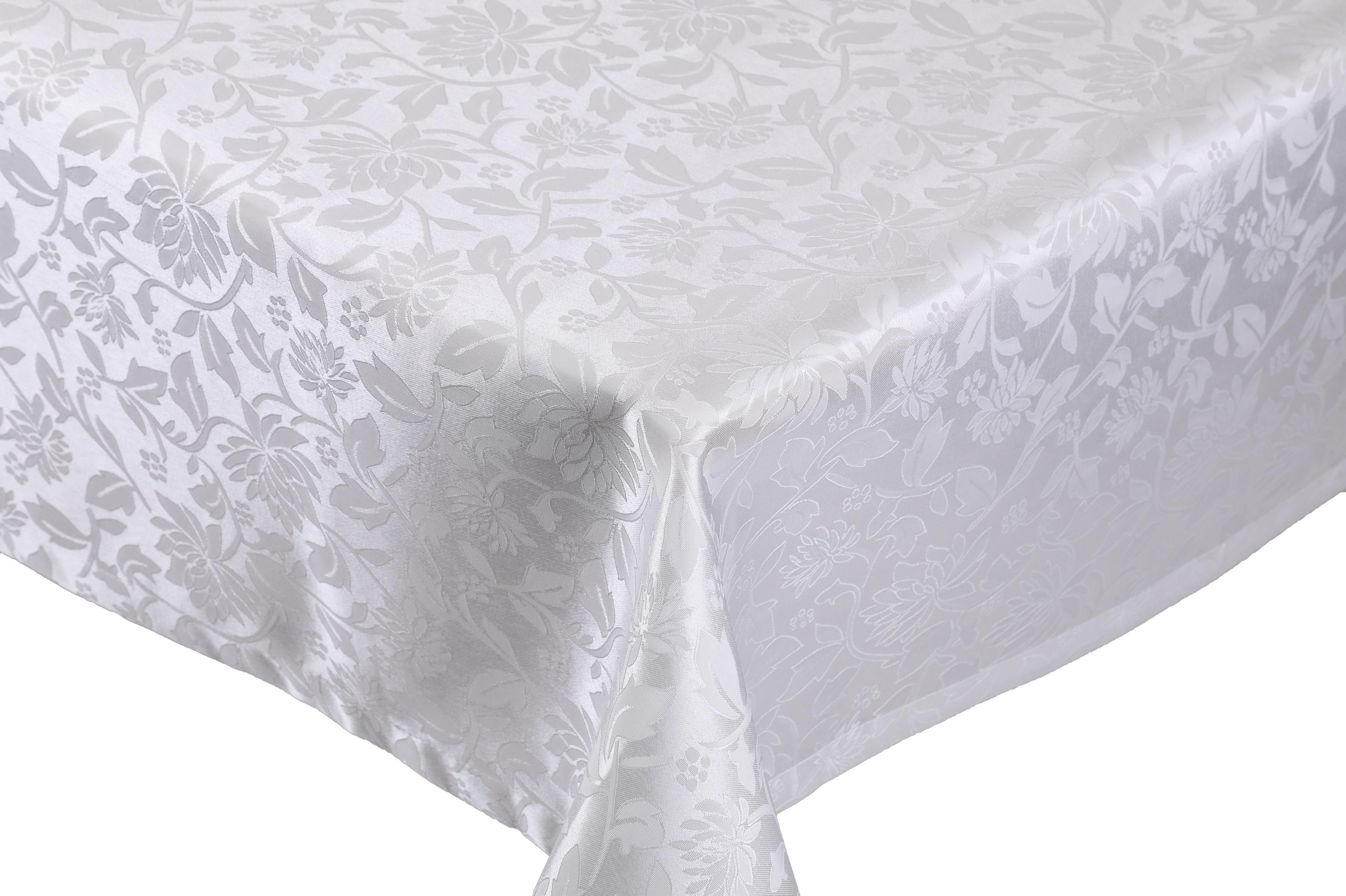 betz edle jacquard tischdecke tischtuch tischw sche dessin 1 farbe wei. Black Bedroom Furniture Sets. Home Design Ideas