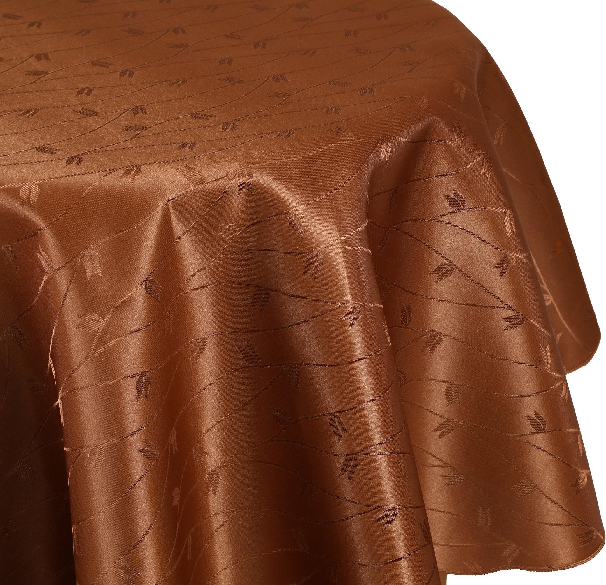 betz nappe jacquard linge de table dessin 6 couleur bronze. Black Bedroom Furniture Sets. Home Design Ideas