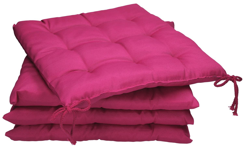 Betz set di 4 cuscini per sedie cuscino per seduta con lacci holiday