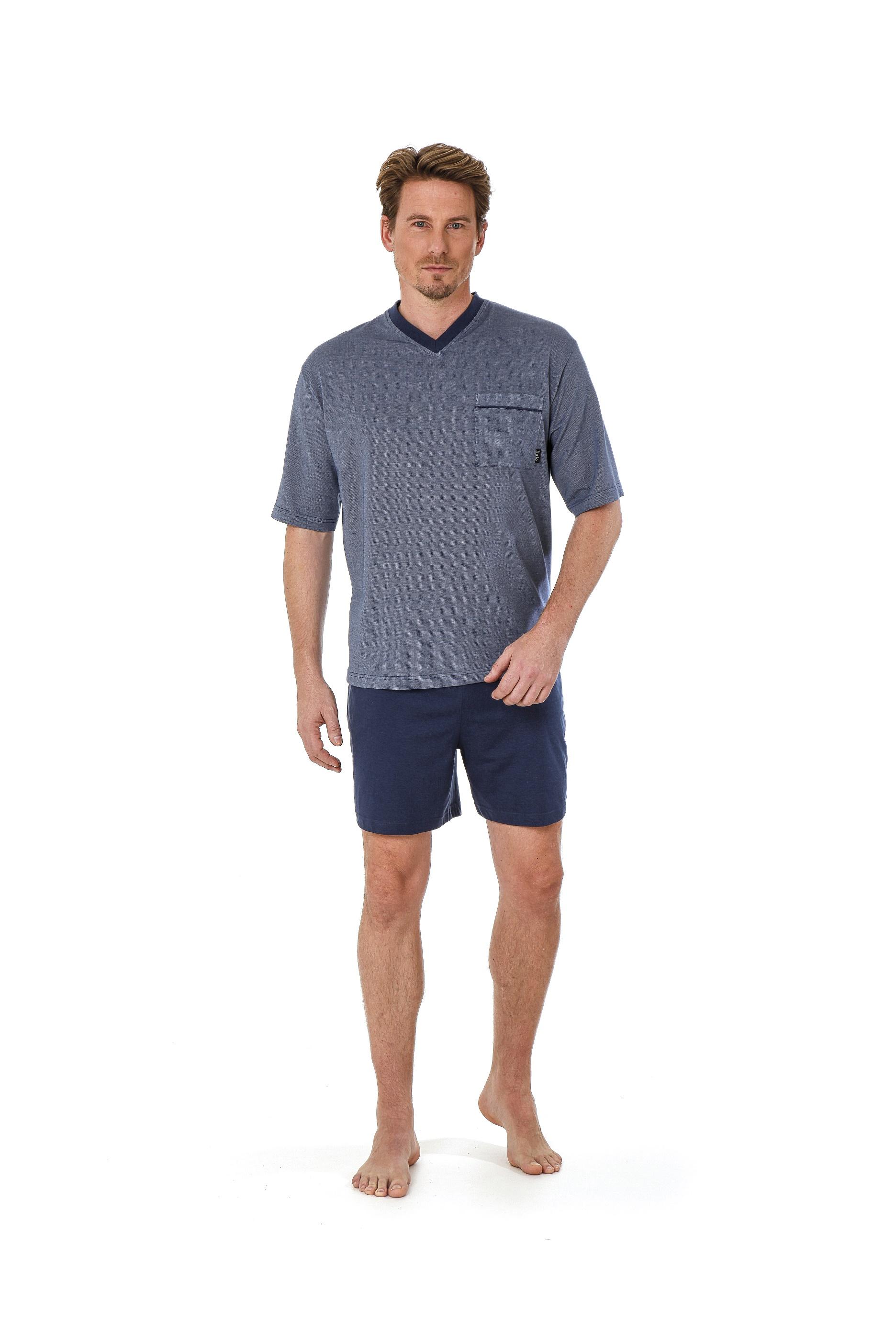 4acb0b45c6 Betz 2 teiliger Herren Shorty Schlafanzug Pyjama kurz Farbe: denim blau  Größen: 48-56