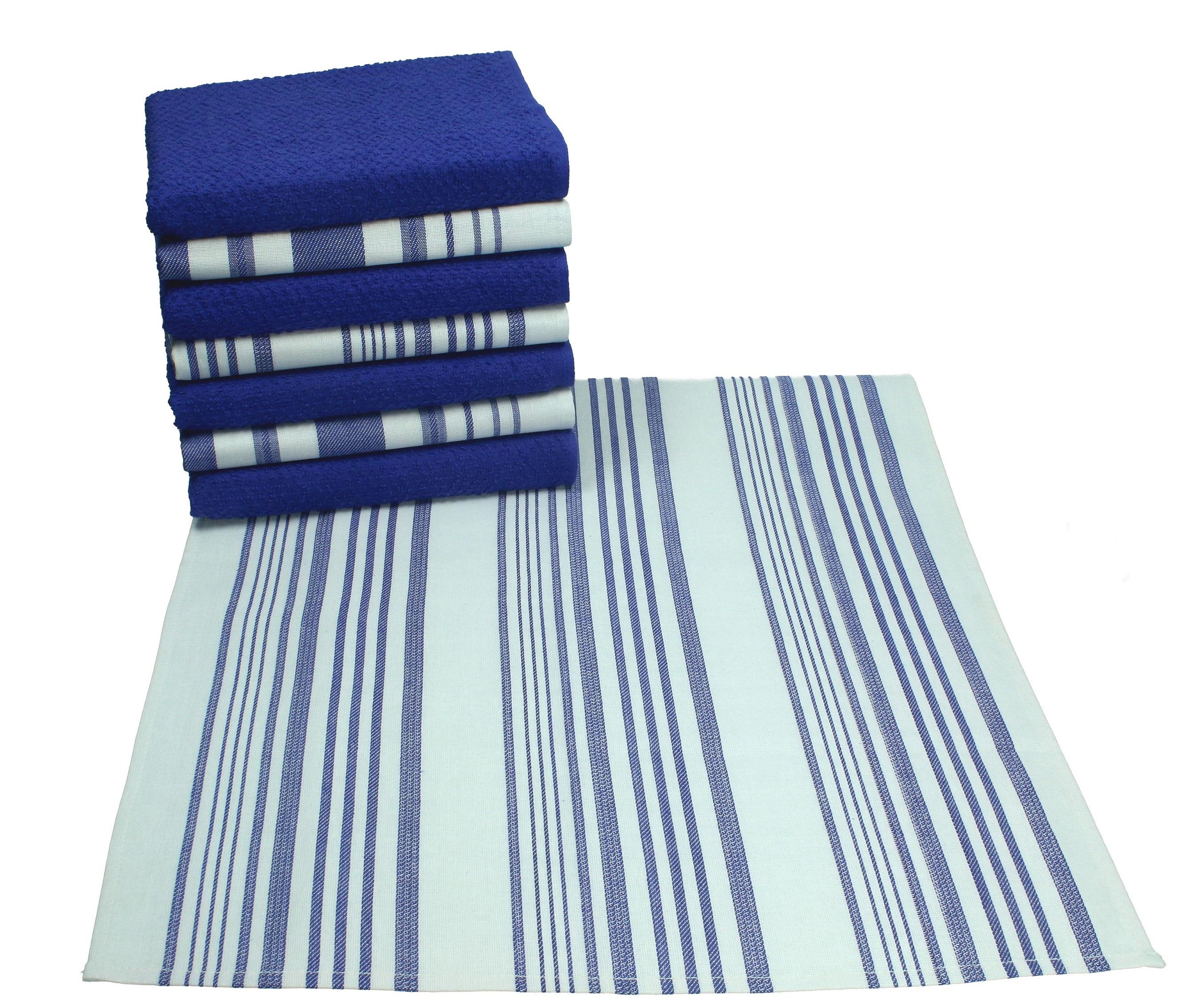 etz DENMARK Küchentücher Set 8-tlg 100%Baumwolle (4 Geschirrtücher ...