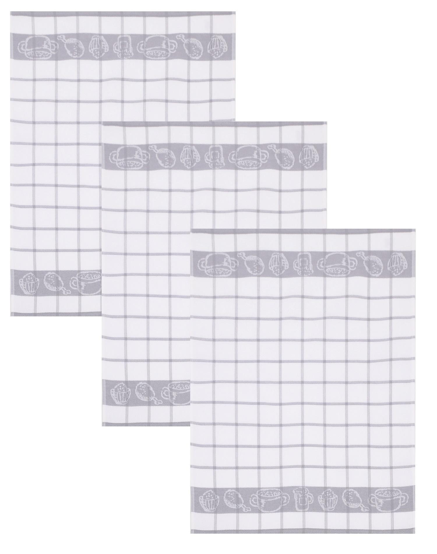 Betz 3 pieces kitchen towel set guten appetit ii kitchen hand towel tea towel terry cloth size 50 x
