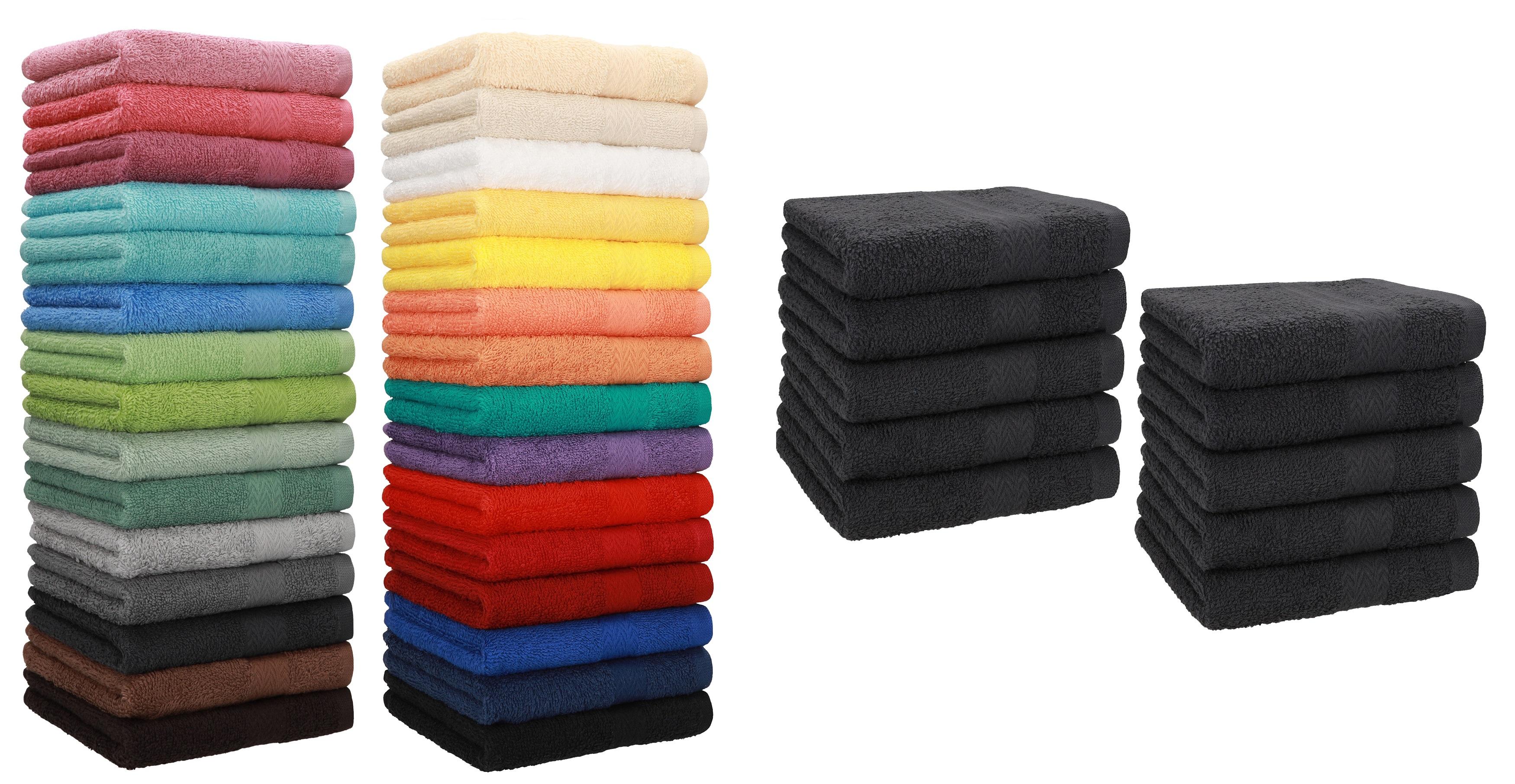Betz 10 Stück Seiftücher Seiflappen Seiftuch PREMIUM 30x30cm schwarz /& weiß