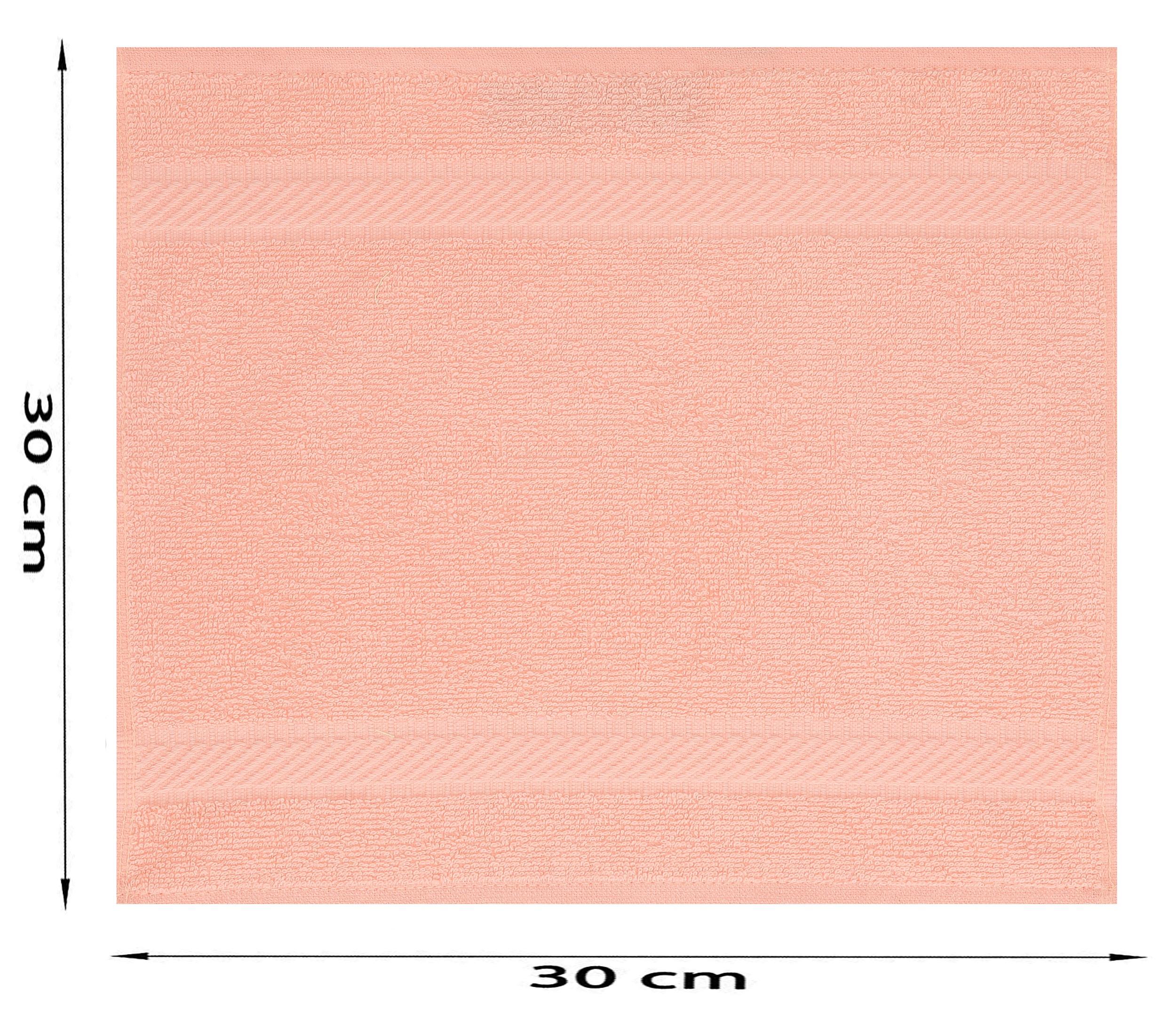 apricot Betz 10 Seiftücher Seiftuch Seiflappen Waschlappen PALERMO 30x30  weiß