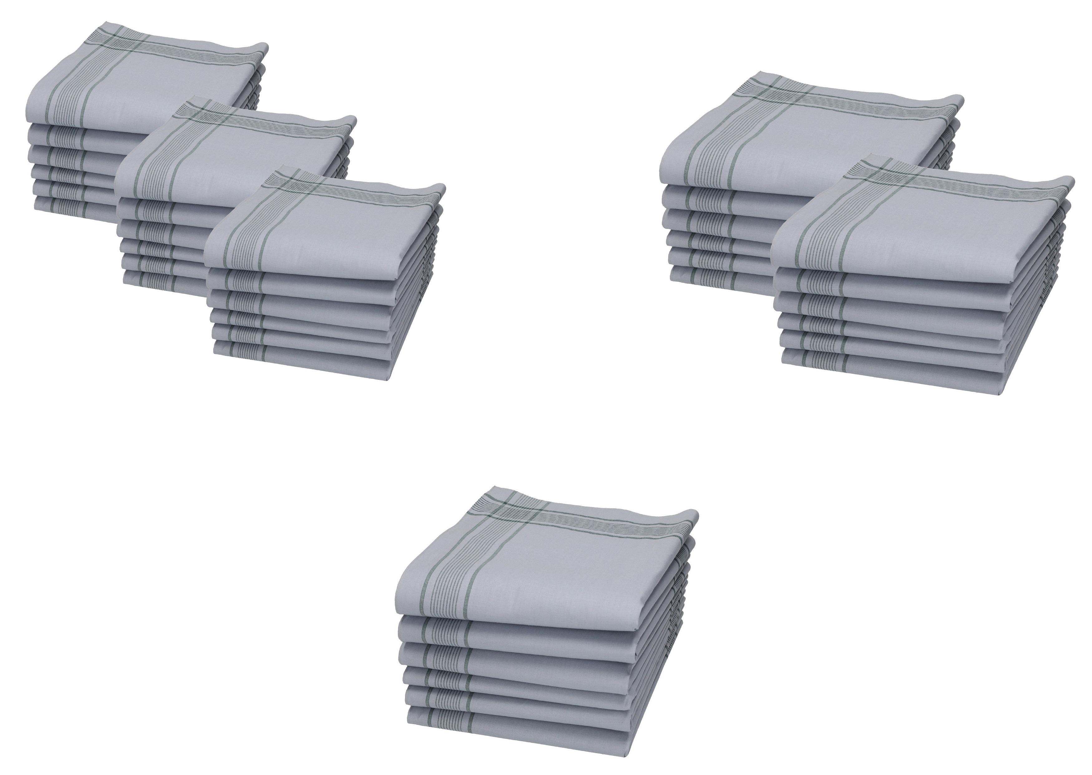4 Stück Bundeswehrtaschentücher 50x50cm Herren Taschentuch Stofftaschentücher