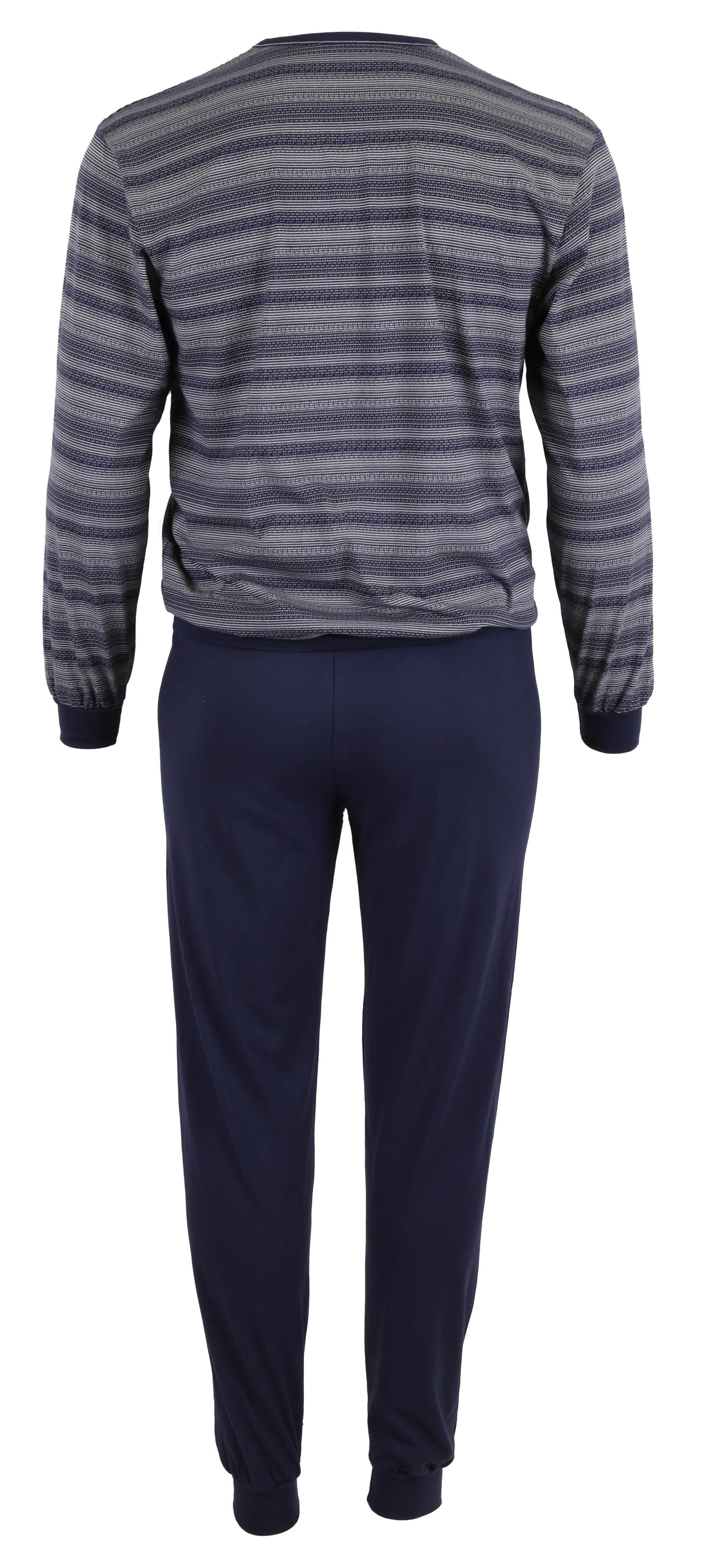betz herren schlafanzug pyjama lang gr en 48 56 farbe navy blau. Black Bedroom Furniture Sets. Home Design Ideas