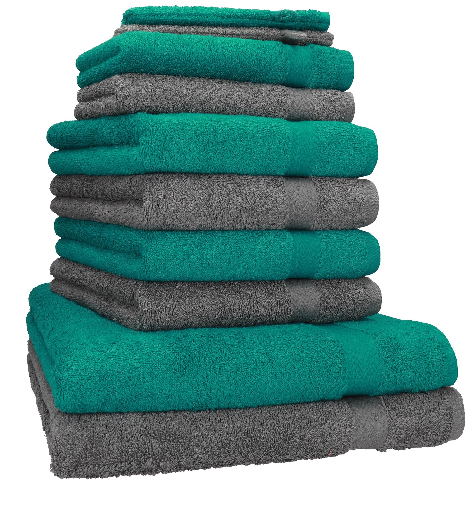 Betz 10-Piece Towel Set Premium 100/% Cotton 2 Bath Towels 4 Hand Towels 2 G