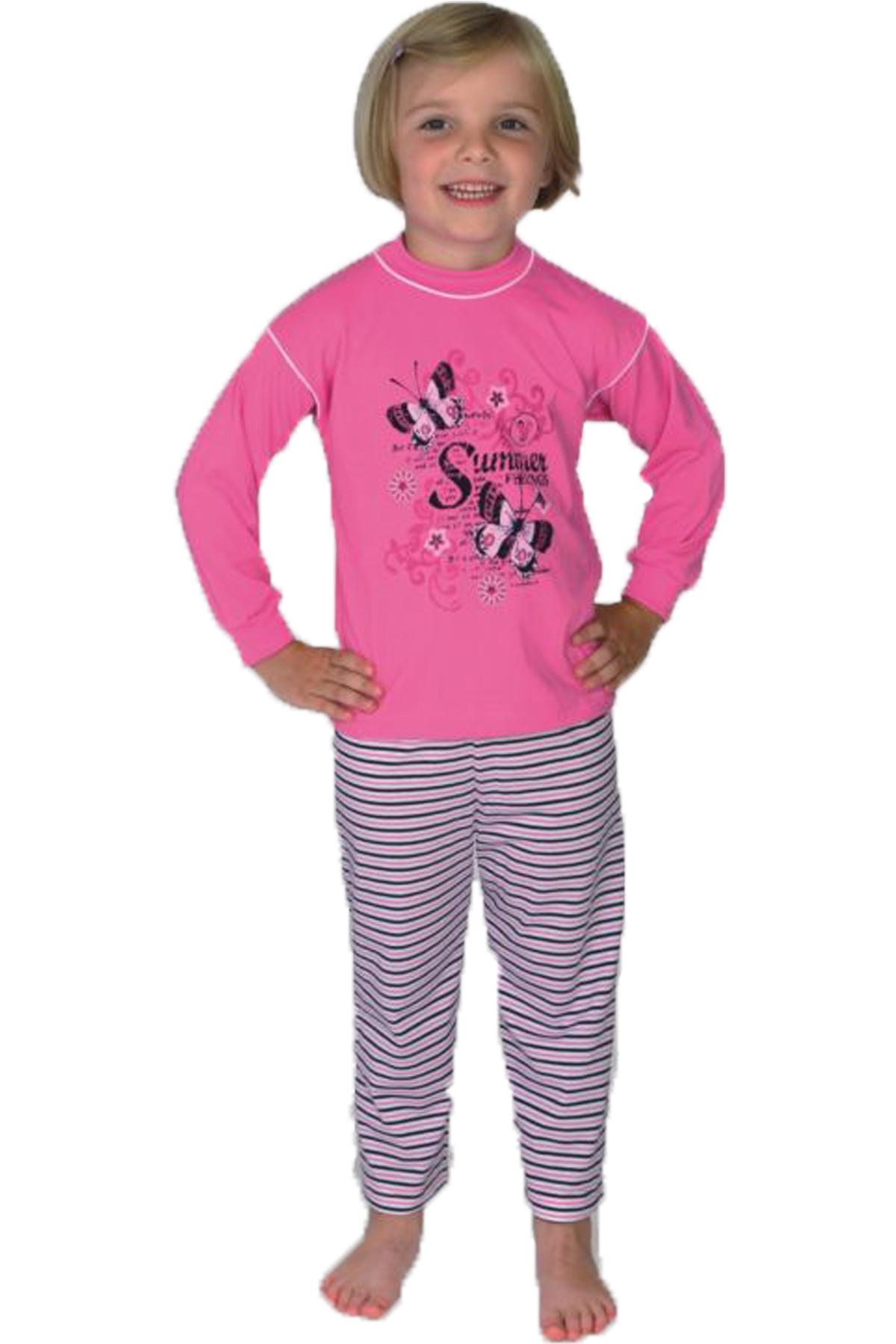 kinder schlafanzug 2 tlg motiv summerfeelings orchidee gr en 92 116. Black Bedroom Furniture Sets. Home Design Ideas
