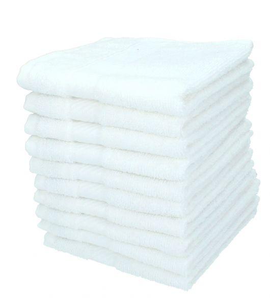 lot de 10 serviettes d barbouillettes palermo blanc 30x30 cm de betz. Black Bedroom Furniture Sets. Home Design Ideas