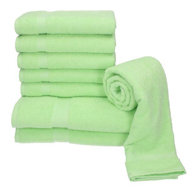 betz 8 tlg handtuch set palermo 100 baumwolle 2 duscht cher 6 handt cher farbe gr n. Black Bedroom Furniture Sets. Home Design Ideas