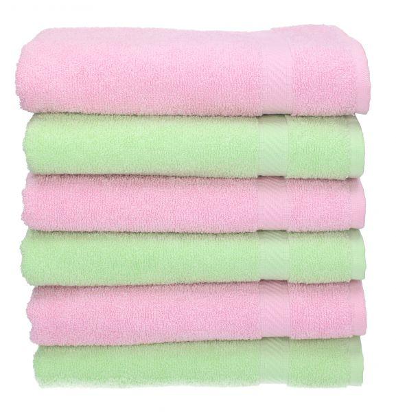 betz 6 st ck handt cher palermo 100 baumwolle handtuch set farbe gr n und ros. Black Bedroom Furniture Sets. Home Design Ideas